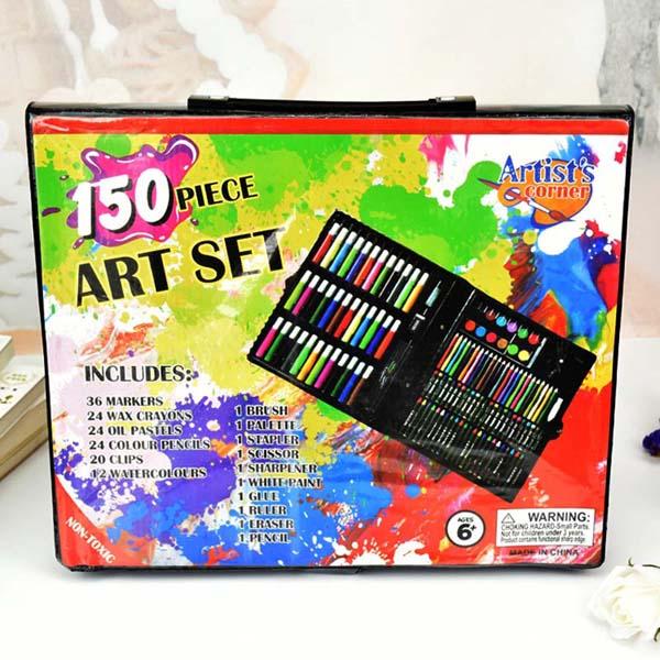 Hộp bút màu 150 món cho bé mẫu giáo